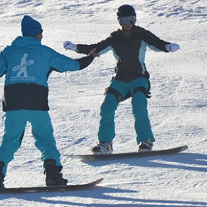 Snowboard lesson in Cortina