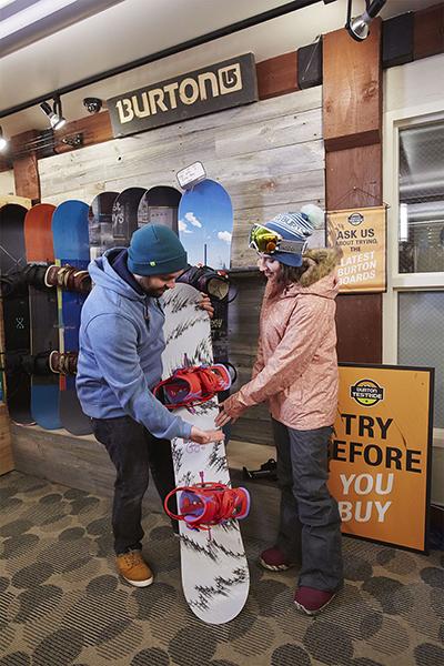 Noleggio snowboard scelta personalizzata