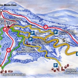 Monte Elmo ski map