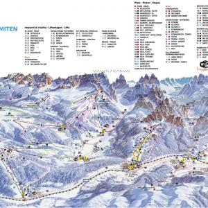 Sesto Dolomites ski map