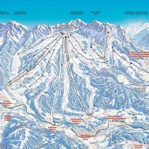 Plan de Corones ski map