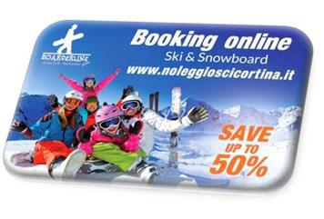 Logo noleggio sci Cortina